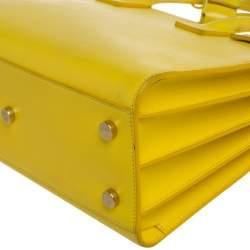 حقيبة يد سان لوران كلاسيك بيبي ساك دو جور جلد صفراء