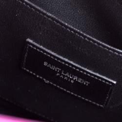 Saint Laurent Fuchsia Leather Baby Classic Sac De Jour Tote