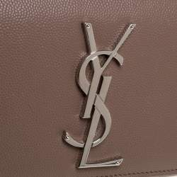 Saint Laurent Beige Leather Small Monogram Kate Shoulder Bag