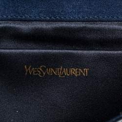 Yves Saint Laurent Grey Ombre Lizard Embossed Leather Y-Ligne Clutch