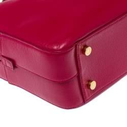 حقيبة عمل سان لوران ميوزيوم جلد ماغينتا محبب