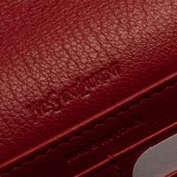 Saint Laurent Paris Red Leather Bell De Jour Clutch