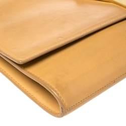 Saint Laurent Beige Leather Y-Ligne Clutch