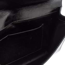 Yves Saint Laurent Black Patent Leather Belle De Jour Flap Clutch