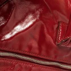 Yves Saint Laurent Red Patent Leather Small Easy Y Satchel