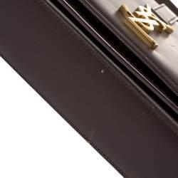 Saint Laurent Paris Burgundy Leather Medium Monogram Université Shoulder Bag