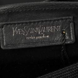 Yves Saint Laurent Black Canvas And Leather Messenger Bag
