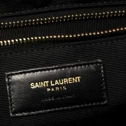 Saint Laurent Beige Matelassé Leather Large Cassandre Flap Bag