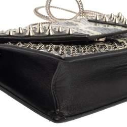 Saint Laurent Black/Green Python and Leather Betty Flap Shoulder Bag