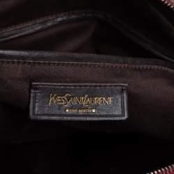 حقيبة سان لوران ميوز كبيرة جلد لامعة سوداء