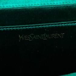 Yves Saint Laurent Green Patent Leather Belle De Jour Clutch