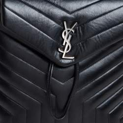 Saint Laurent Black Y Quilted Leather Loulou Backpack