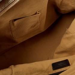Saint Laurent Metallic Gold Textured Leather Medium Majorelle Tote