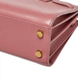 Saint Laurent Pink Leather Nano Classic Sac De Jour Tote