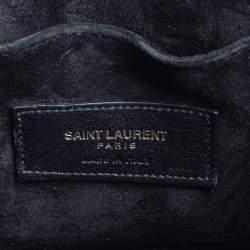Saint Laurent Black Leather Nano Classic Sac De Jour Tote