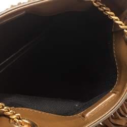 Saint Laurent Brown Suede Grace Fringe Crossbody Bag