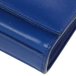 Saint Laurent Paris Blue Leather Small Kate Tassel Crossbody Bag