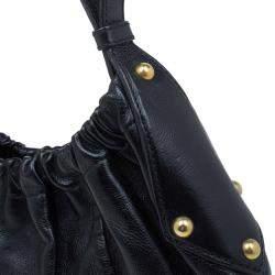 Saint Laurent Paris Black Leather Vincennes Mombasa Hobo