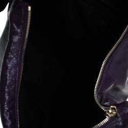 Saint Laurent Paris Purple Patent Leather Multy Hobo