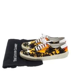 Saint Laurent Paris Multicolor Floral Canvas Low Top Sneakers Size 39.5