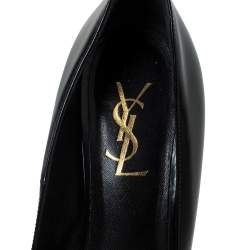 Saint Laurent Paris Black Leather Tribtoo Platform Pumps Size 39