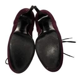 Yves Saint Laurent Burgundy Suede Janis Booties Size 37