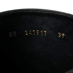Saint Laurent Paris Black Leather Tribute Mid Calf Boots Size 39