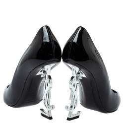 Saint Laurent Black Patent Leather Opyum Pumps Size 38