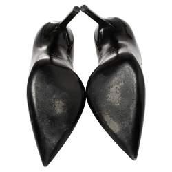 Saint Laurent  Black Patent Leather Anja Pumps Size 37