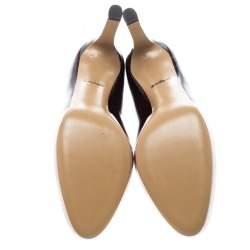 Salvatore Ferragamo Two Tone Patent Leather Gradient Leo Pumps Size 40