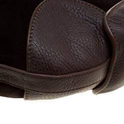 Salvatore Ferragamo Brown Suede and Leather Hobo