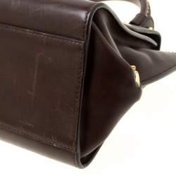 Salvatore Ferragamo Brown Leather Tote