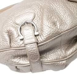 Salvatore Ferragamo Metallic Gold Leather Hobo