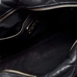 Salvatore Ferragamo Black Quilted Leather Ginette Chain Shoulder Bag
