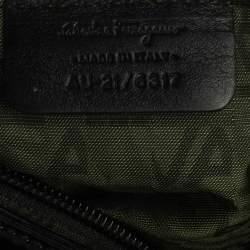 Salvatore Ferragamo Black Patent Leather  Marisa Satchel