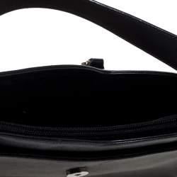 Salvatore Ferragamo Black Leather Hobo