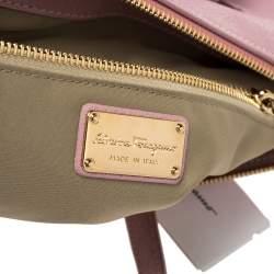 Salvatore Ferragamo Pink Leather Small Mika Tote
