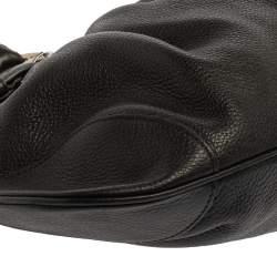 Salvatore Ferragamo Black Leather Marisa Satchel