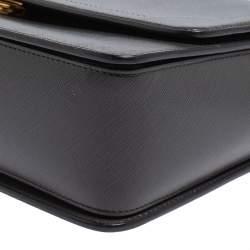 Salvatore Ferragamo Dark Grey Leather Gancini Top Handle Bag