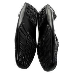 حذاء سالفاتوري فيراغامو غانسينو بيت جلد أسود مقاس 38.5