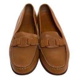 حذاء لوفرز سالفاتوري فيراغامو سليب أون جلد بني مقاس 40