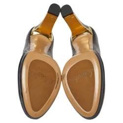 Salvatore Ferragamo Dark Brown Python Metal Heel Pumps Size 39