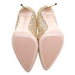 Sebastian Metallic Gold Glitter Pumps Size 40.5