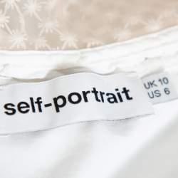 Self Portrait White Guipure Lace Detachable Yoke Detail Hudson Top M