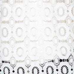 Self-Portrait White Guipure Lace Victorian Sleeve Detail Top M
