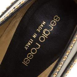 Sergio Rossi Black Leather Pumps Size 40
