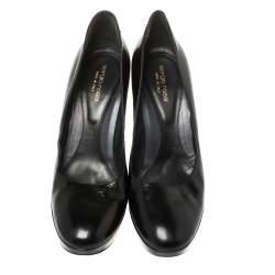 Sergio Rossi Black Patent Leather Round Toe Pumps Size 41