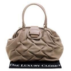 Symthson Beige Leather Nancy Top Handle Bag