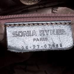 Sonia Rykiel Dark Brown Leather Studded Satchel