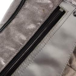 Sonia Rykiel Grey/Black Textured Fabric Hobo